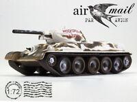 T-34-42 Soviet Medium Tank Winter 1941 Year WWII 1/72 Scale Diecast Model
