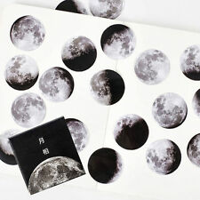 45Pcs Moon Phase Paper Sticker Diary Scrapbooking Envelope Gift Label Sticker