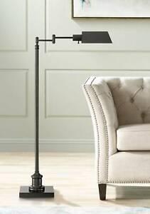 Modern Pharmacy Floor Lamp Dark Bronze Adjustable Head for Living Room Reading