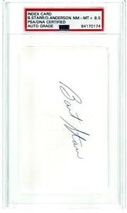 HOF, BART STARR, DONNY ANDERSON, GREEN BAY PACKERS, S.B. CHAMPS, SIGNED INDEX