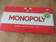Monopoly board game 1972 vintage red box property trading game complete