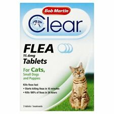 Bob Martin Flea Tablets for Cats and Small Dog Under 11 Kg, 3 Tablets