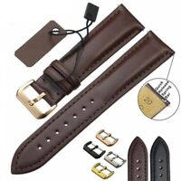 Unisex Watchband Leather Black Brown Replacement 18 20 22 24m Watch Accessories