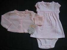 NEW! Just One You Carters Girl NEWBORN Pink Dress Cardigan Outfit Set Lot Reborn