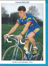CYCLISME carte cycliste FRANCK BOUYER équipe CASTORAMA 1995 signée