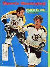 1972 Sports Illustrated, Hockey, Bobby Orr & Phil Esposito, Boston Bruins ~ Good