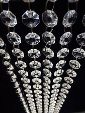 30FT Acrylic Crystal Bead Chandelier Garland Hanging Wedding Curtain Party Decor