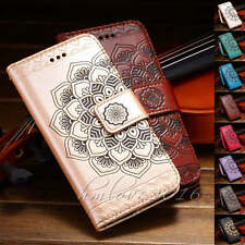 Mandala Embossed Leather Flip Stand Card Wallet Case Cover for iPhone 6S 7 Plus