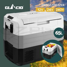 Glacio 65L Portable Fridge Freezer Fridges Cooler Camping 12V/24V/240V Caravan