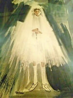 Modernist Confirmation Gouache Watercolor Painting Church Girl Ray Stage Framed