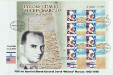 Israel Colonel David 'Mickey' Markus Personalized Sheet on 2010 FDC Rare