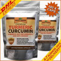 TURMERIC & BLACK PEPPER BIOPERINE PILLS 95% CURCUMIN HIGH STRENGTH PILLS TUMERIC