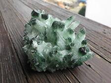Bellissimo naturale verde tibetano CACTUS Quarzo Cristallo livello 198,3gr.