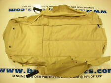 BMW E38 FRONT CONTOUR SEAT BACK COVER LEATHER PEARLBEIGE 52108249636