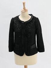 Monsoon Womens Black Glitter Embellished Jacket Size 8