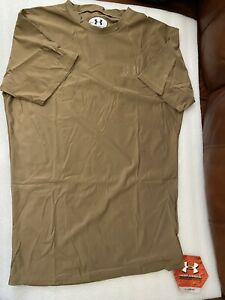 US. Military Issue Under Armour Heat Gear Compression T-Shirt Brown Size XXL New
