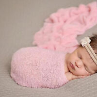 Newborn Baby Photo Props Long Ripple Wraps Swaddle Photography Blanket CN