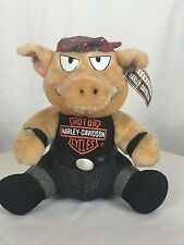 NEW! 1993 Vintage Harley Davidson Motorcycle Hog(Pig) Plush W/Tags Collectable