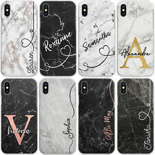 Personalised Marble Phone Case, Hard Cover For Google, Custom Initials/Text/Name