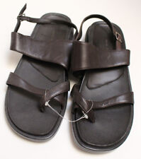 NEW NIB Womens Croft & Barrow Brown Leather Fisherman Cross Thong Sling Sandals