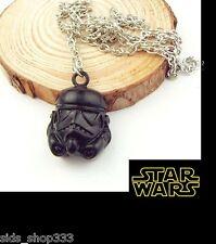 STAR WARS Stormtrooper Helmet Black Pendant or keychain  6K003D Force awakens