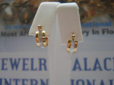 14K Gold Filled Small Two Tone Hoop Earrings Item #A133