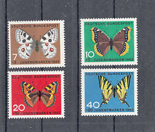 6022 ) Germany 1962 ** / MNH  Butterflies Welfare of 4 beautiful Stamps
