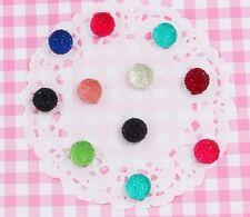 10 x Sparkle Circles Flatback Cabochon Embellishments DIY Kawaii Craft UK