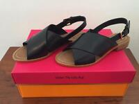 d8160406c NIB  228 KATE SPADE Bahama SANDALS 7 M Black Leather Shoes NEW ~ LAST PAIR!