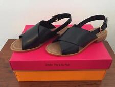 NIB $228 KATE SPADE Bahama SANDALS 7 M Black Leather Shoes NEW ~ LAST PAIR!