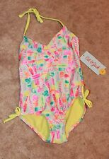 CAT & JACK Girls XS (4/5) ONE-PIECE SWIMSUIT (popsicles; multicolor) New w/ Tags