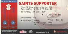 Ticket - Southampton v Manchester United 29.01.11 FA Cup