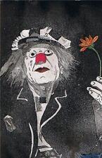 Olek Popov Clown Aquatinte Gravure Heinz BRAYER Dieken Emden Frise orientale