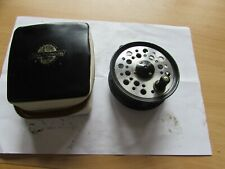 """good vintage youngs early wide beaudex trout fly fishing reel 3.5"""" & + case"""
