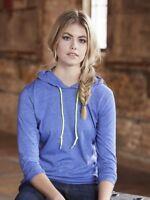 Anvil - Women's Lightweight Long Sleeve Hooded T-Shirt - 887L