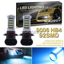92SMD 9006 HB4 Ice Blue 8K LED Fog Light Bulbs for Lexus LS430 LS460 GS350 GS430