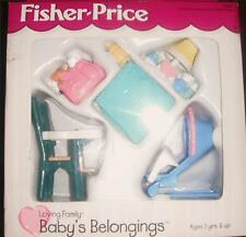 Fisher Price Loving Family Dollhouse Baby's Belongings Highchair Bouncer Blanket