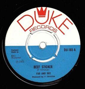 "FUD & DEL-beef sticker     duke 7""     (hear)      reggae"