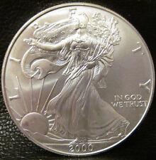 2000 SILVER American Eagle $1 - 1 Troy Oz .999 Fine Silver Bullion Coin Round