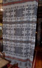Antique West African Fulani Khasa BLANKET stripwoven wool marriage