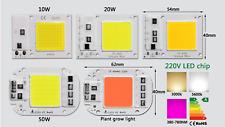 10W 20W 30W 50W watt LED Chip COB white warm spectrum grow light lamp 110V 220V