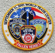 Ecusson patch 11 septembre  9/11 nypd fdny 12 cm de diam WTC WORLD TRADE CENTER