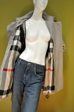 Burberry Brit womens house check trench lining coat parka quilted vest hood 14