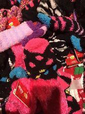 Lot Of 25 Women's  Socks--Fuzzy Assorted Colors-Design--Shoe Size 4-10 Joe Boxer