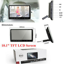 "10.1"" Tablet-Style Car Headrest DVD Player with USB/SD Port and Remote Control"
