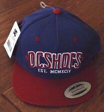 NWT!  DC Mens Slipper Snap Back Baseball Hat Mazarine Blue