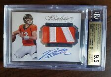 2016 Panini Flawless Paxton Lynch Auto Logo Patch RC SP /10 BGS 9.5 Broncos!