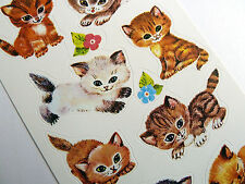 Cat & Kitten Stickers childrens card making decoration labels for kids 4346