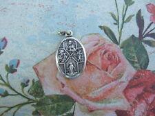 Vintage Catholic Medal 4 way Cruciform 1950's Multi images: Jesus Mary St.Joseph