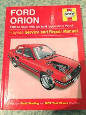 Ford Orion Escort Mk3 1983-90' J.H. Haynes Service & Repair Manual V-G-C